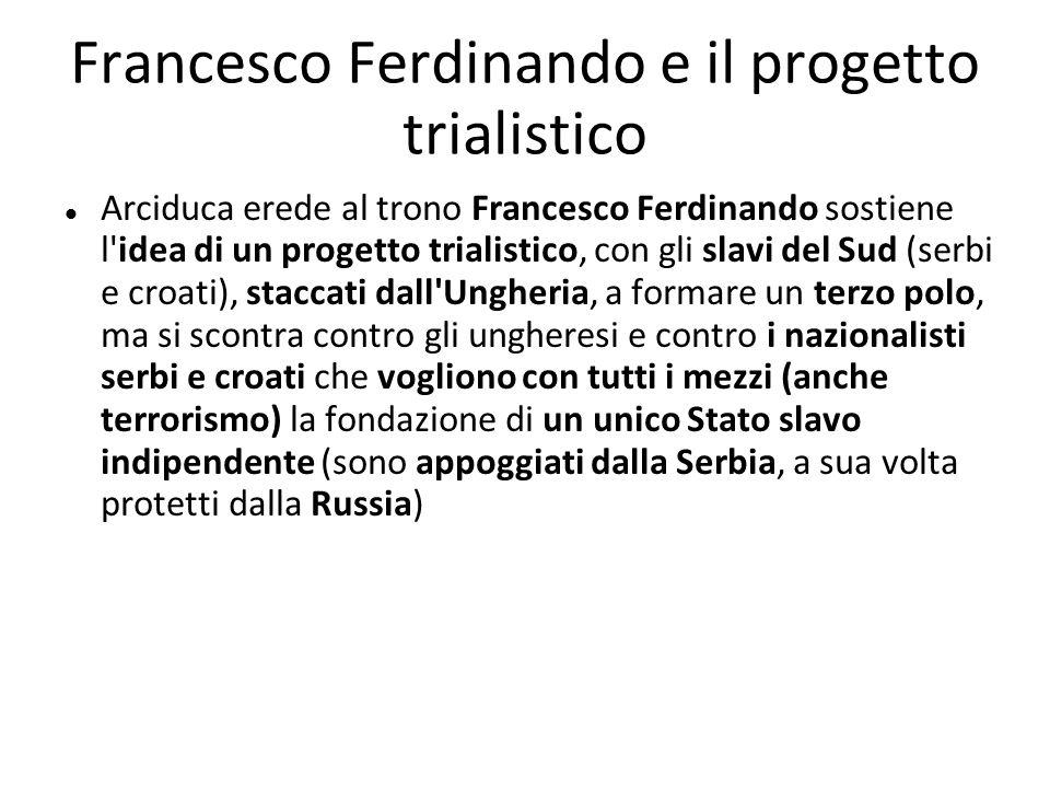 Francesco Ferdinando e il progetto trialistico