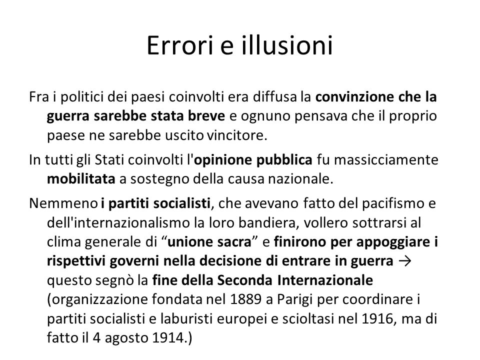 Errori e illusioni