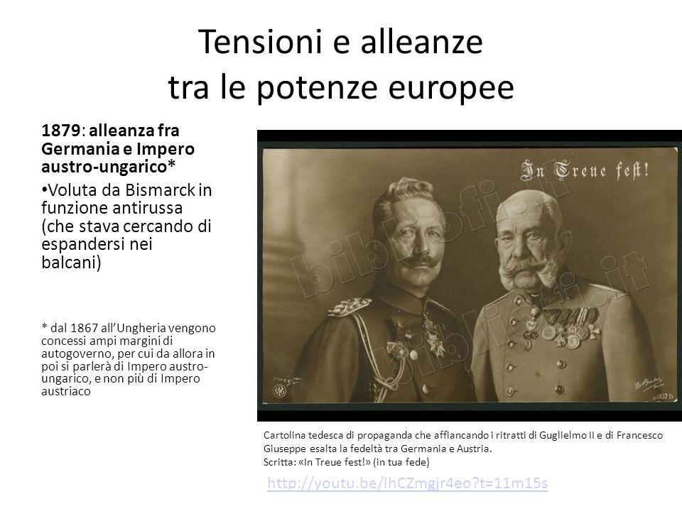 Tensioni e alleanze tra le potenze europee