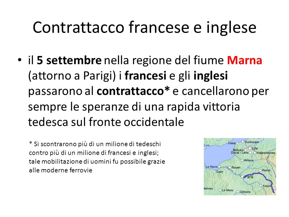 Contrattacco francese e inglese