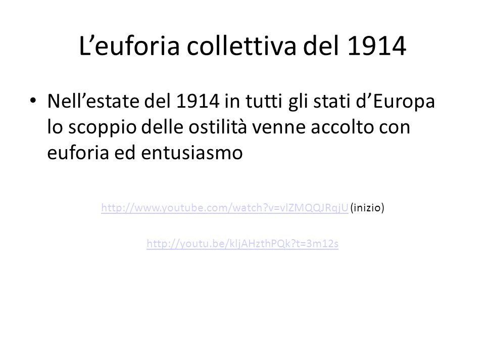 L'euforia collettiva del 1914