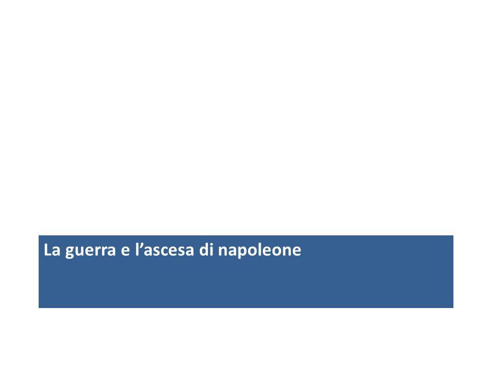 La guerra e l'ascesa di napoleone