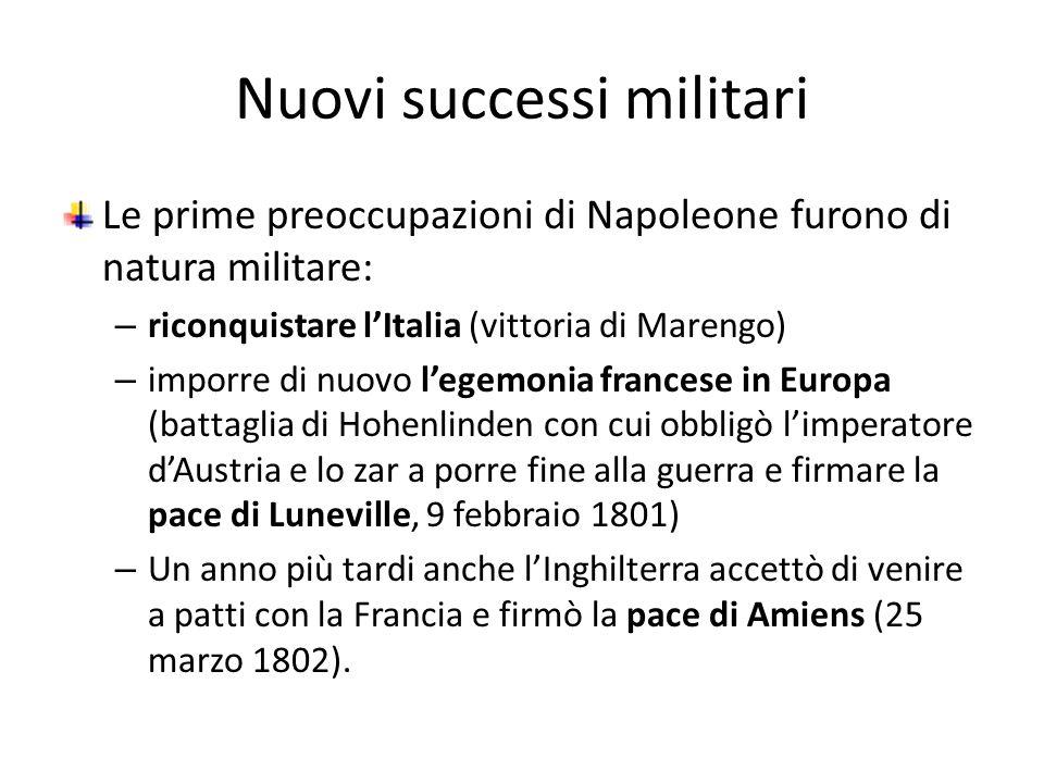 Nuovi successi militari