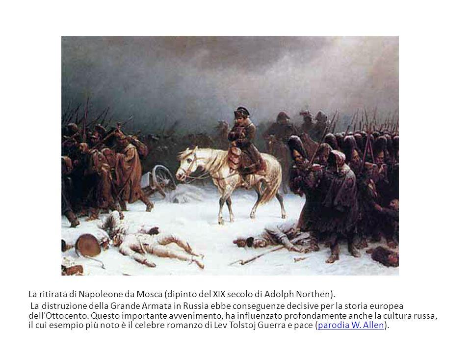 La ritirata di Napoleone da Mosca (dipinto del XIX secolo di Adolph Northen).