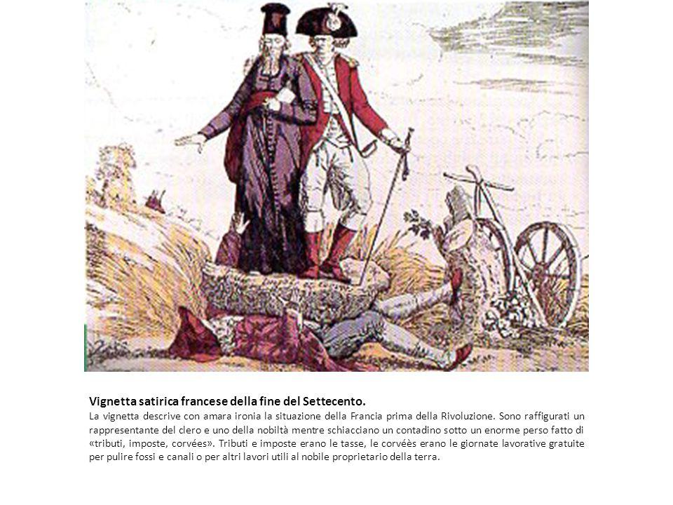 Vignetta satirica francese della fine del Settecento.