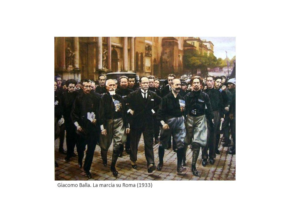 Giacomo Balla. La marcia su Roma (1933)