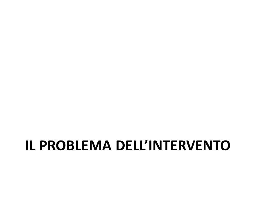 Il problema dell'intervento