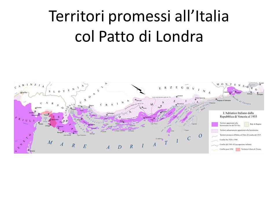 Territori promessi all'Italia col Patto di Londra