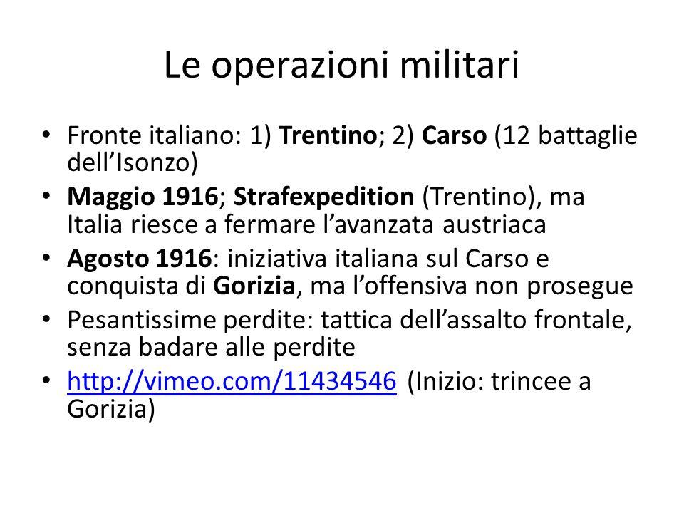 Le operazioni militari