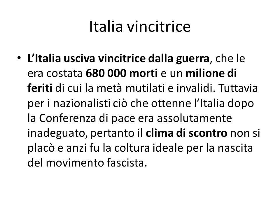 Italia vincitrice