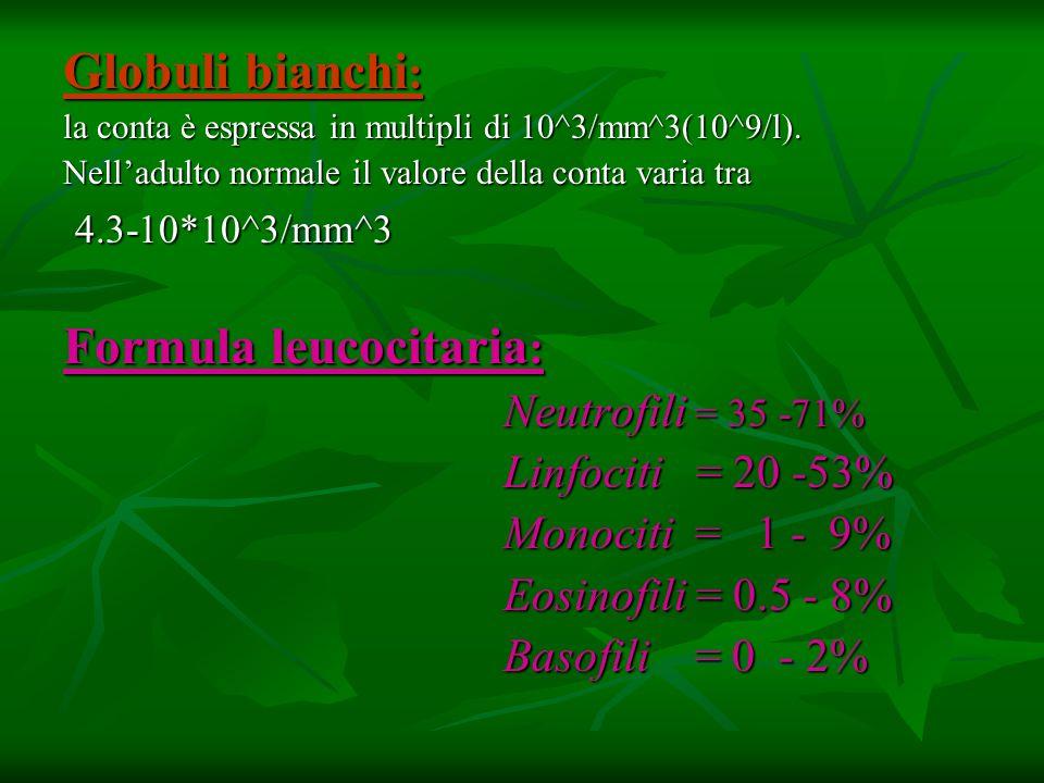 Formula leucocitaria:
