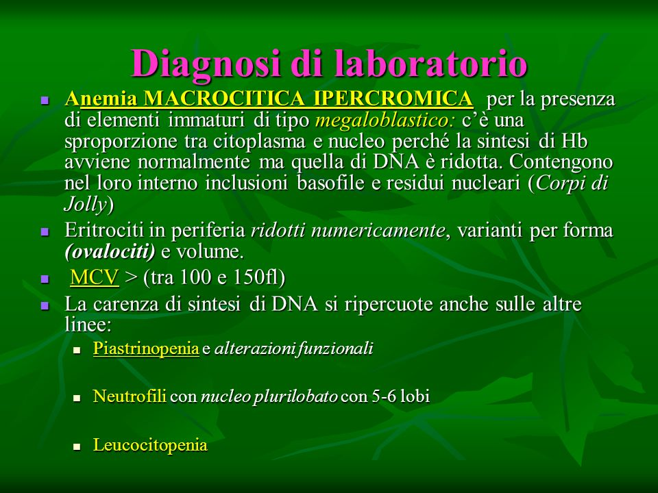 Diagnosi di laboratorio