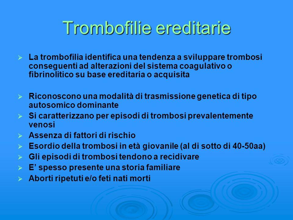 Trombofilie ereditarie