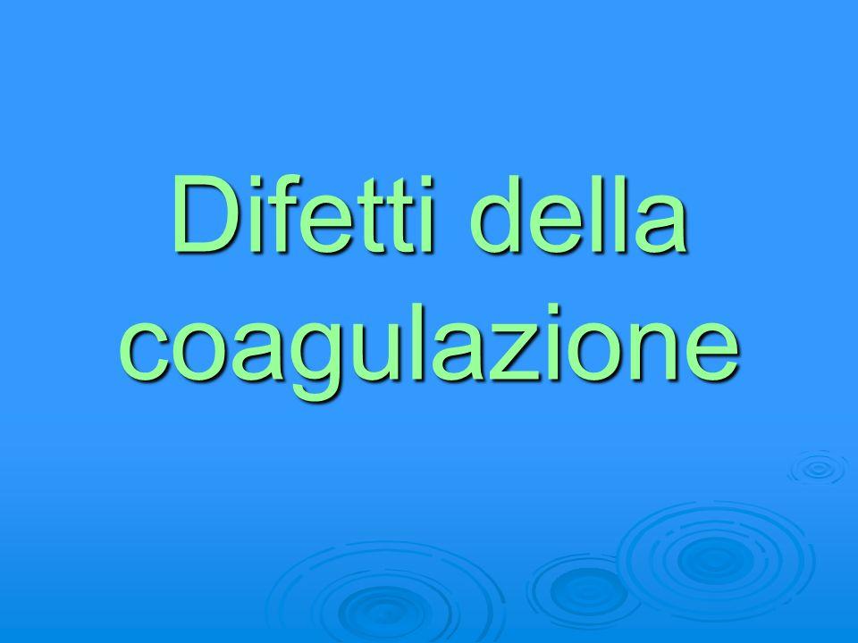 Difetti della coagulazione