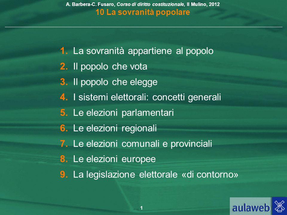 1. La sovranità appartiene al popolo
