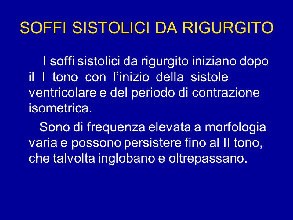 SOFFI SISTOLICI DA RIGURGITO