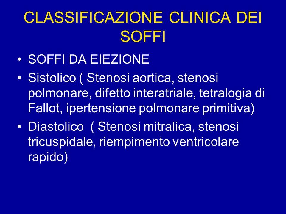 CLASSIFICAZIONE CLINICA DEI SOFFI