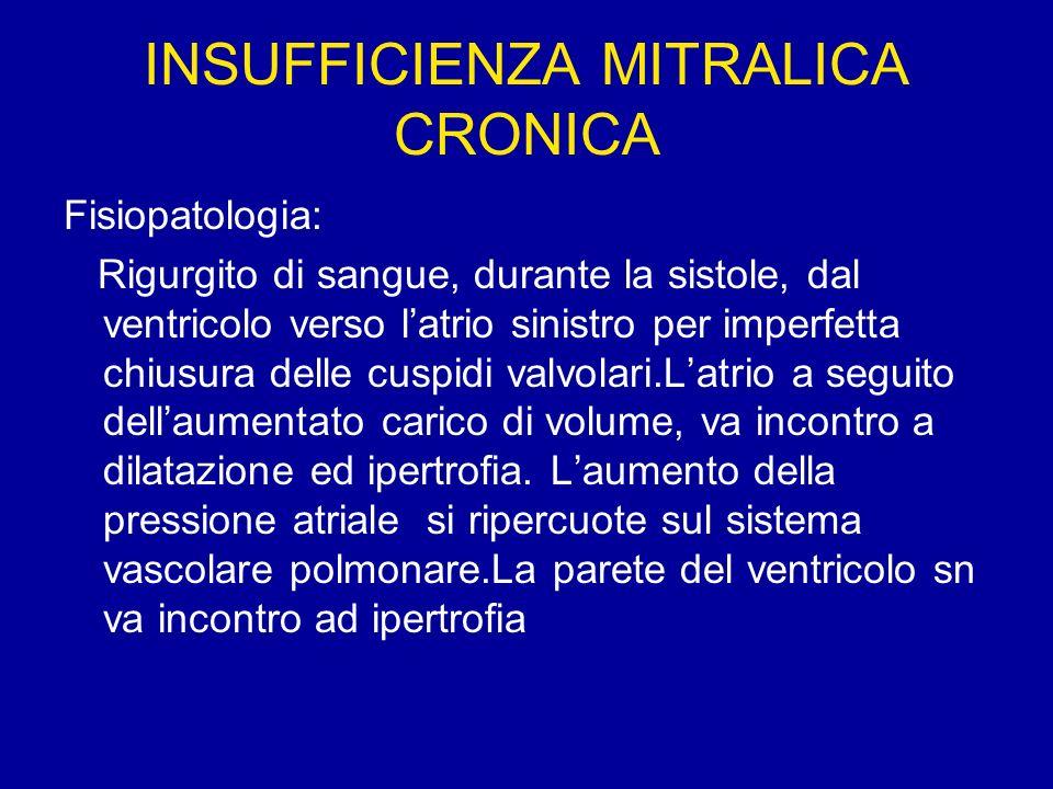 INSUFFICIENZA MITRALICA CRONICA