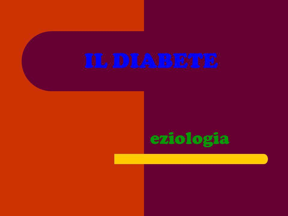 IL DIABETE eziologia