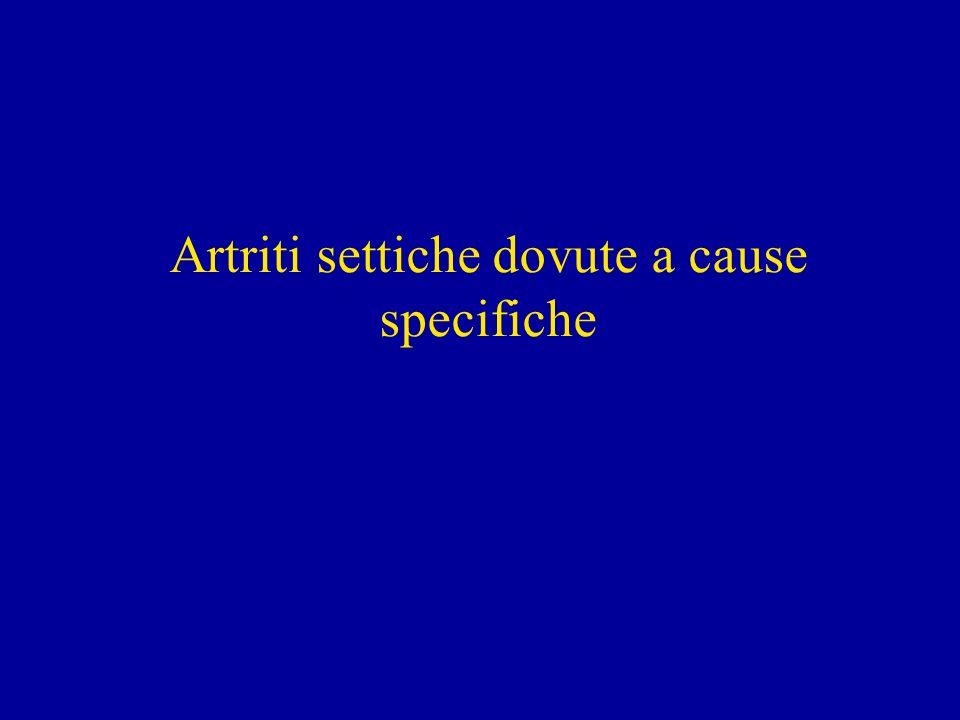 Artriti settiche dovute a cause specifiche