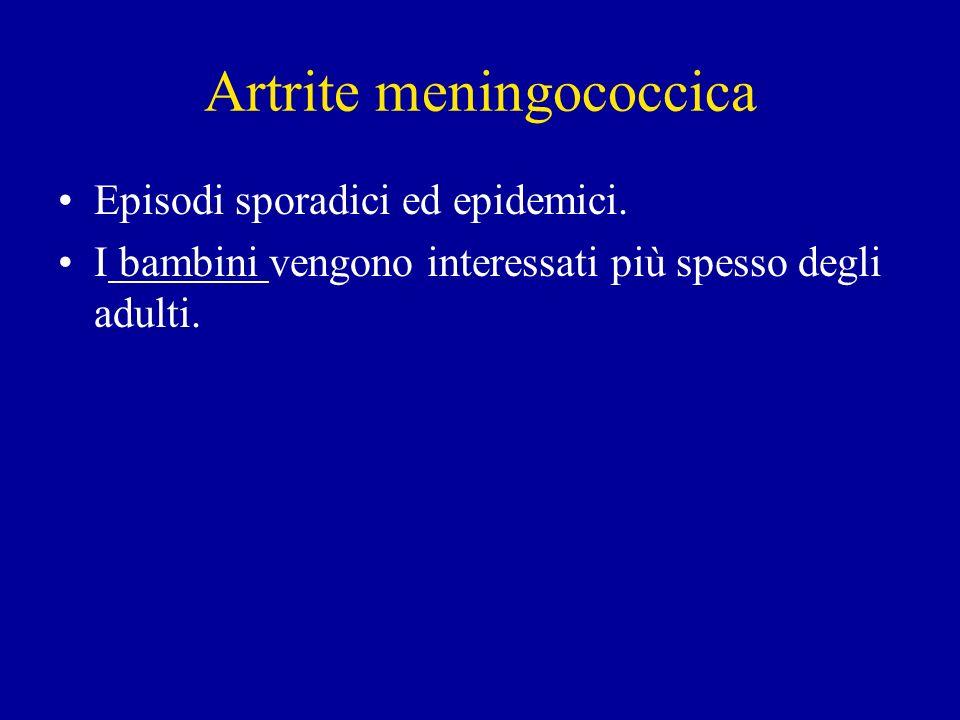 Artrite meningococcica