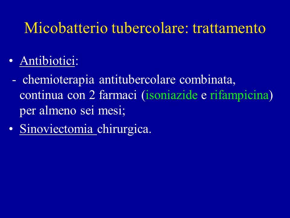 Micobatterio tubercolare: trattamento