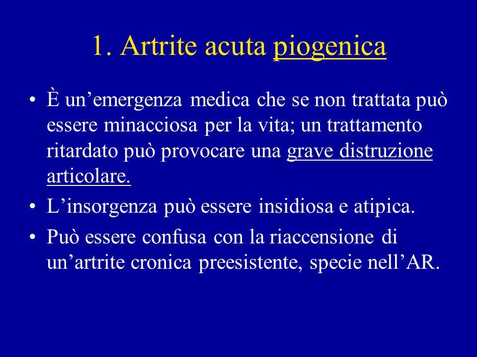 1. Artrite acuta piogenica