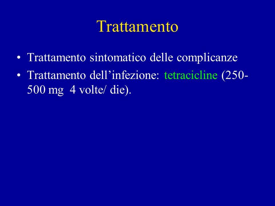 Trattamento Trattamento sintomatico delle complicanze
