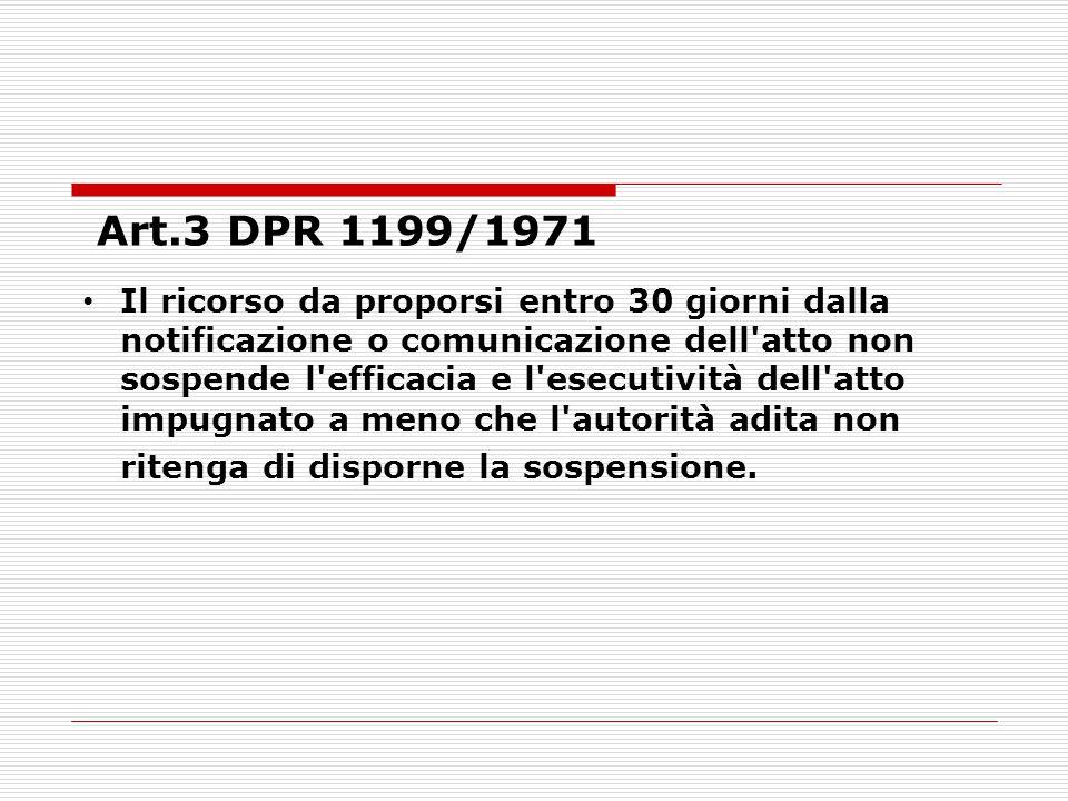 Art.3 DPR 1199/1971