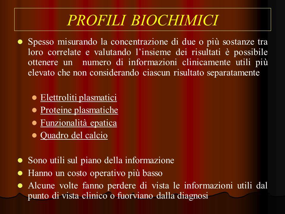 PROFILI BIOCHIMICI
