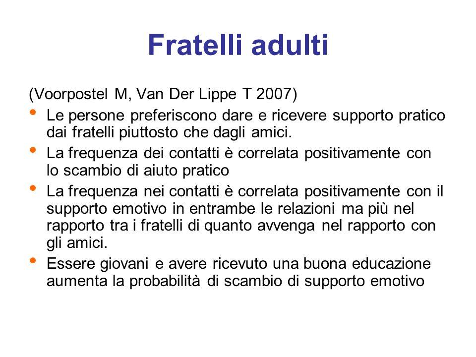 Fratelli adulti (Voorpostel M, Van Der Lippe T 2007)