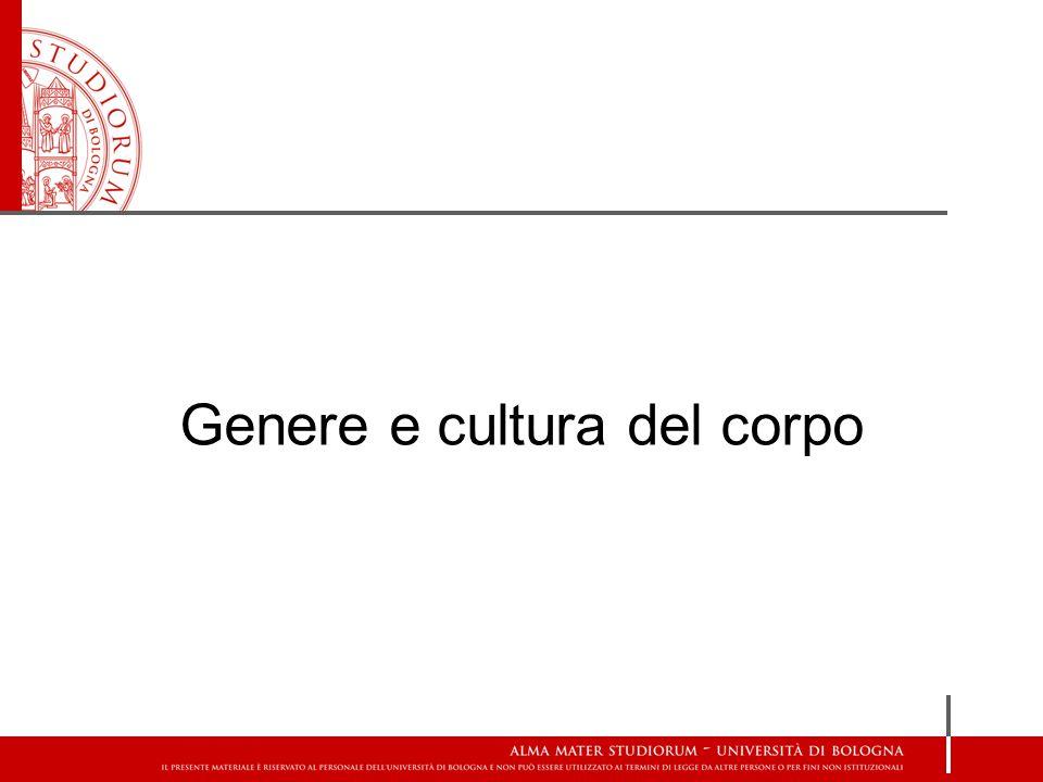 Genere e cultura del corpo