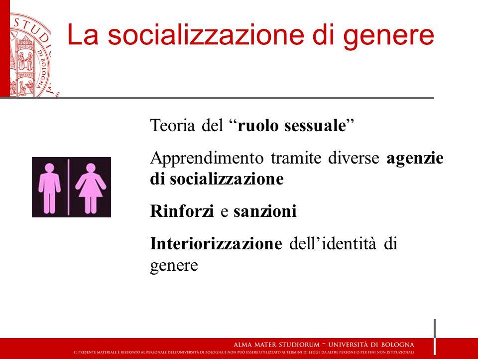 La socializzazione di genere