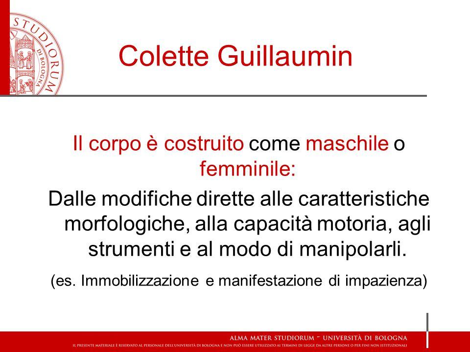 Colette Guillaumin Il corpo è costruito come maschile o femminile: