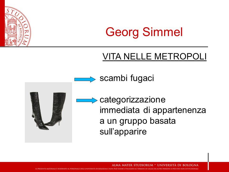 Georg Simmel VITA NELLE METROPOLI scambi fugaci