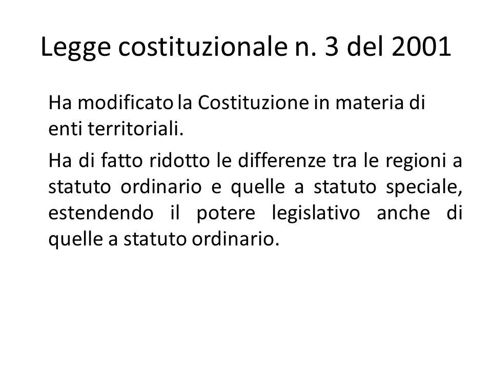 Legge costituzionale n. 3 del 2001