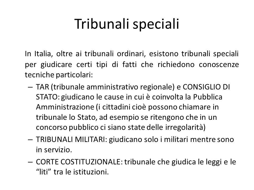 Tribunali speciali