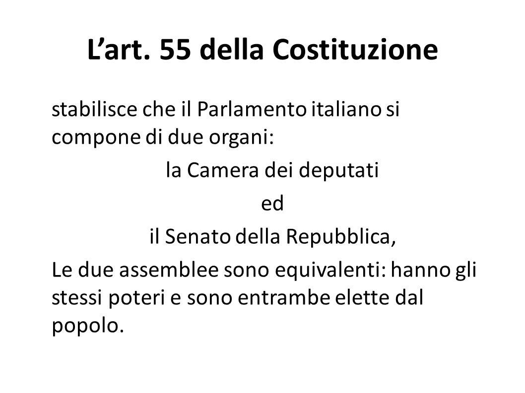 L'art. 55 della Costituzione
