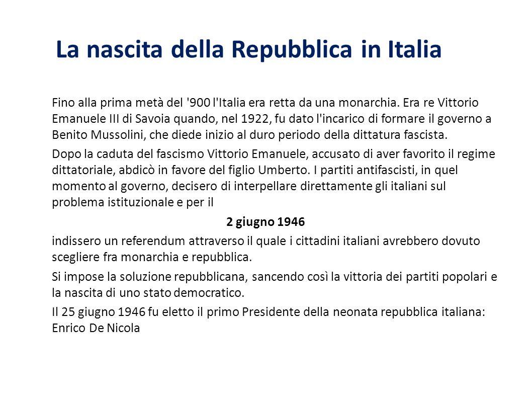 La nascita della Repubblica in Italia