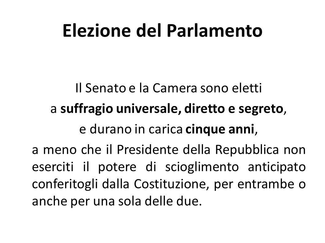 Elezione del Parlamento