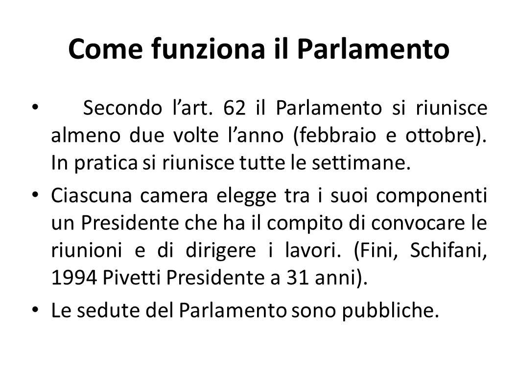 Come funziona il Parlamento
