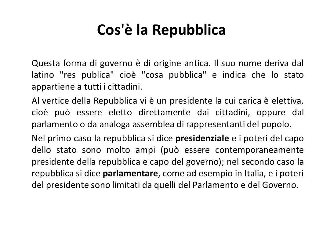 Cos è la Repubblica