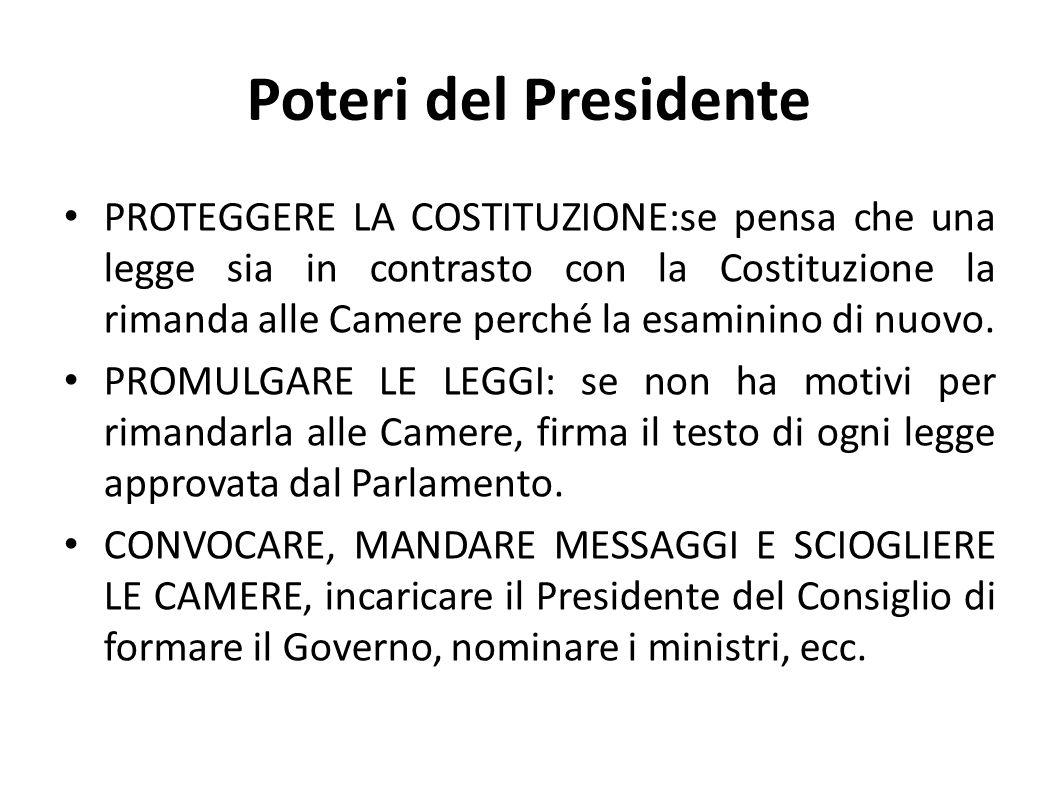 Poteri del Presidente