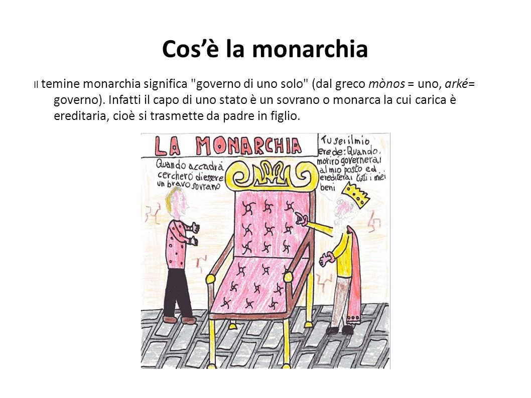 Cos'è la monarchia
