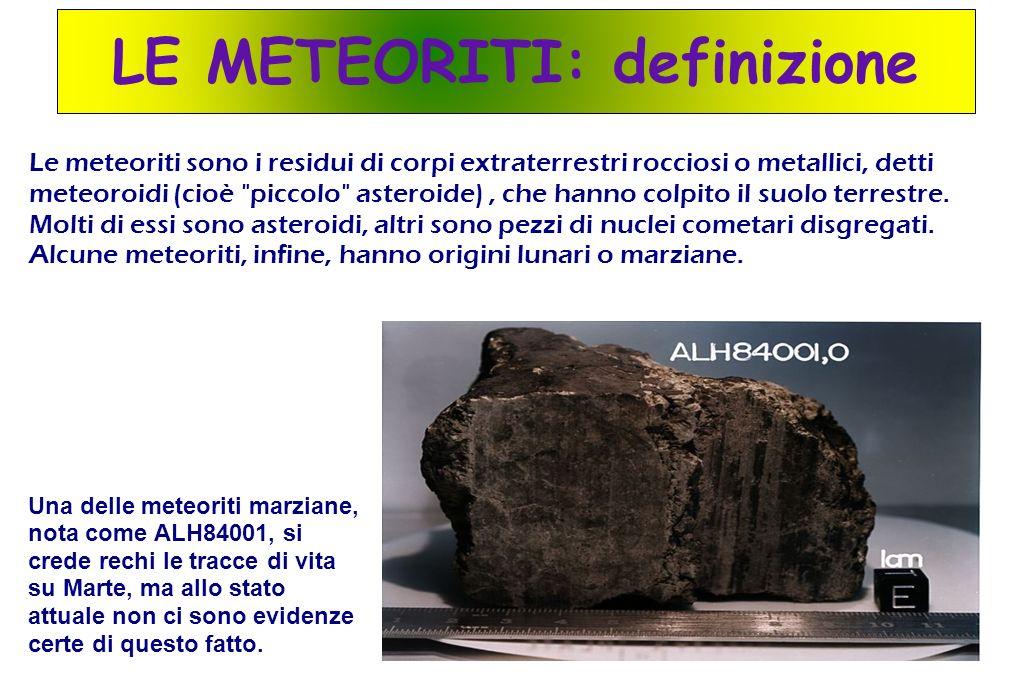 LE METEORITI: definizione