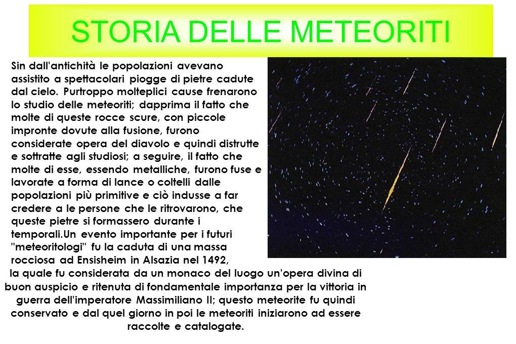 STORIA DELLE METEORITI