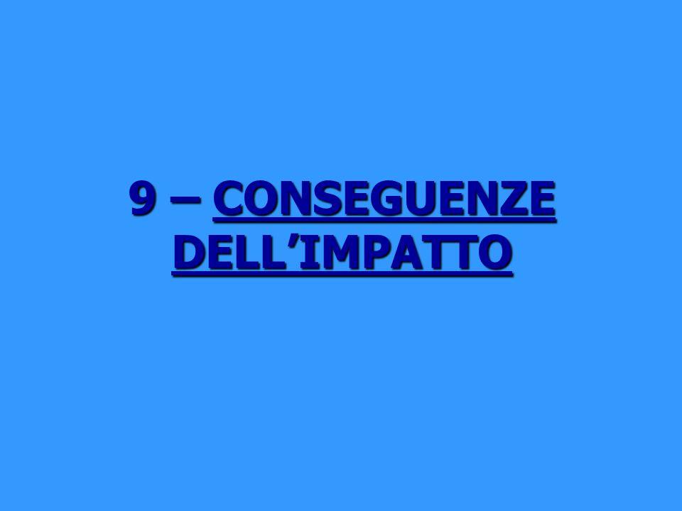 9 – CONSEGUENZE DELL'IMPATTO