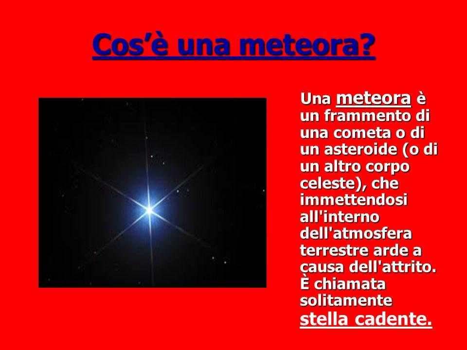 Cos'è una meteora