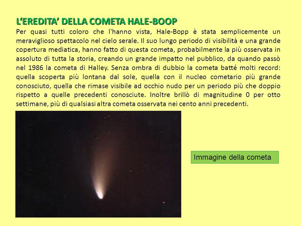 L'EREDITA' DELLA COMETA HALE-BOOP