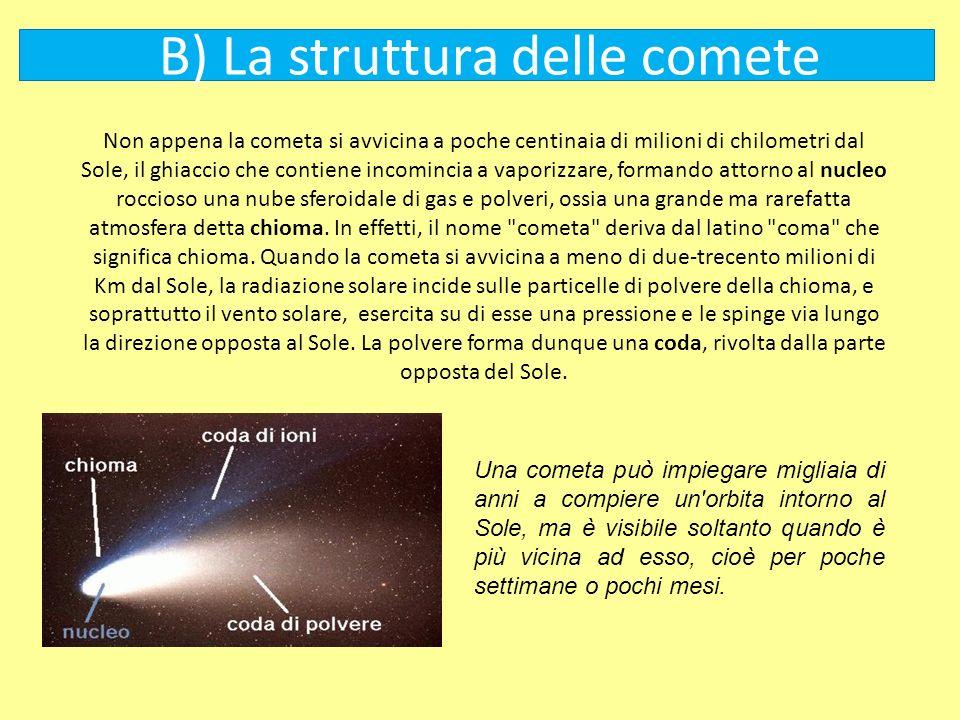 B) La struttura delle comete